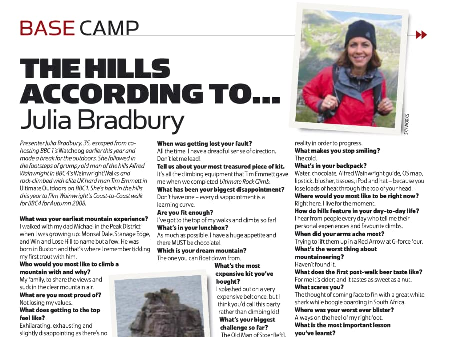 The Hills According to Julia Bradbury