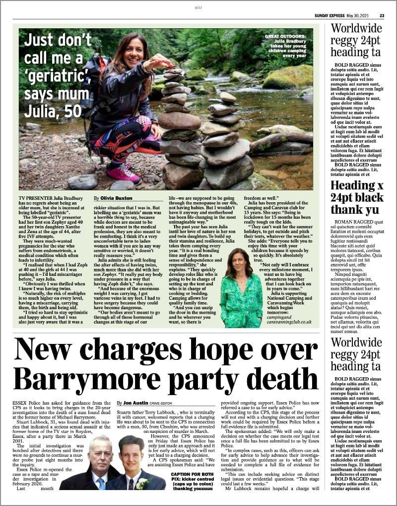 Sunday Express 30 May